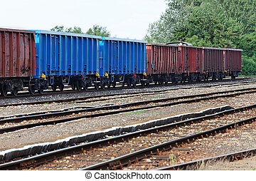 Train - Freight train wagons
