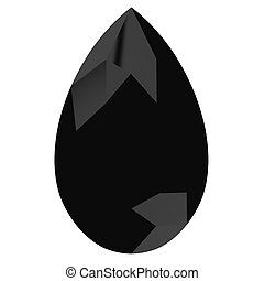 onyx on white background