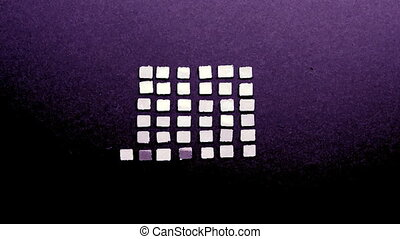 mirror square shapes growing in large square sequence shape