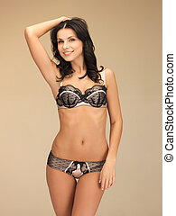 tempting brunette in sexy lingerie - picture of tempting...