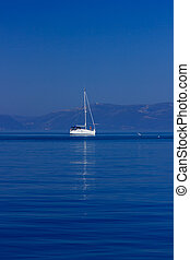 sailing blue Mediterranean sea