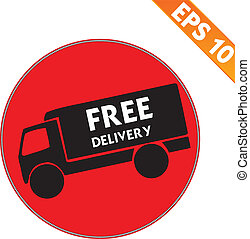 Free delivery  logistic advertising transportation - Vector illustration - EPS10
