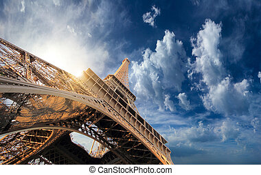 The Eiffel tower  Paris France