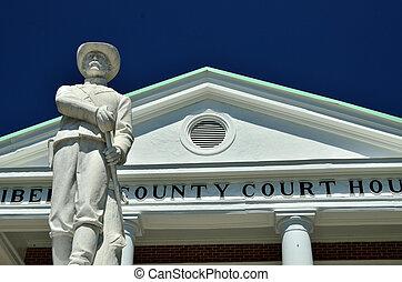 Confederate Soldier Statue - A Confederate Soldier Statue...