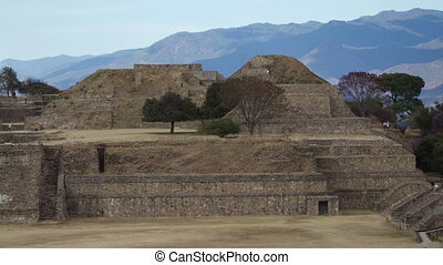 the mayan ruins at mount alban, oaxaca, mexico. the mayans...