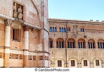 Parma - Historic buildings - Parma Emilia-Romagna, Italy -...