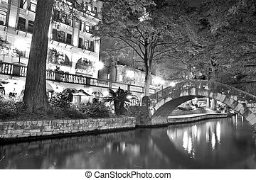 San Antonio Riverwalk - Walking along on San Antonio...