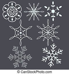 Snow flakes decorative set