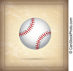baseball - white ball of baseball over vintage background...