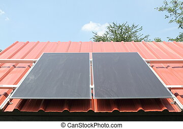 Solar cells on the red roof