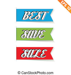 Label stitch sale tag  - Vector illustration - EPS10
