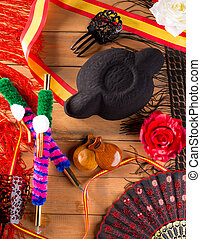 Bullfighter and flamenco typical from Espana Spain torero
