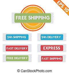 Free delivery  logistic advertising - Vector illustration - EPS10