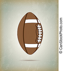 Football ball over vintage background vector illustration