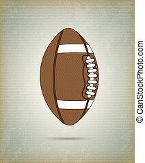 Football ball over vintage background vector illustration