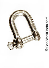 Shackle - Metal shackle on plain background