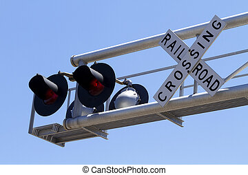 Overhead Railroad Signal And Sign Cantilever - A pair of...