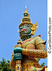 Demon statue on Grand Palace or Temple of the Emerald Buddha
