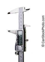 Digital Vernier Caliper - Isolated on White - Digital...