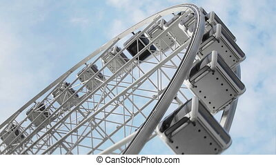 Ferris wheel close up on sky - Video 1920x1080 - Ferris...