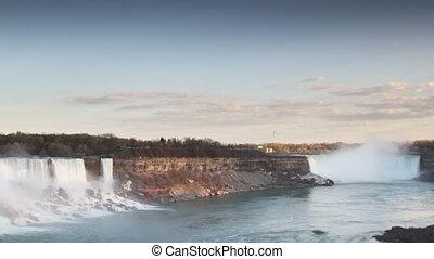 niagara falls, usa and canada, super high quality, 4k...