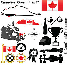 Canada Grand Prix F1 - Vector set of Canada Grand Prix...