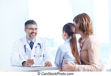 Medical consultation - Portrait of confident practitioner...