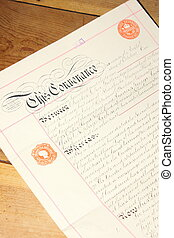 Retro deeds - Old vintage conveyance documents from the...