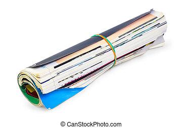 magazine folded isolated on white background