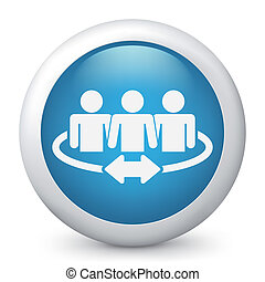 Team of connected people - Illustration of a team of...