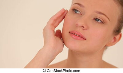 Natural appearance - Very attractive woman posing for camera