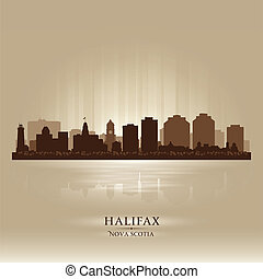 Halifax Canada skyline city silhouette Vector illustration