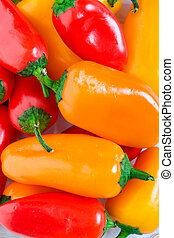 Jalapeno Pepper Background - Orange, red yellow Jalapeno...