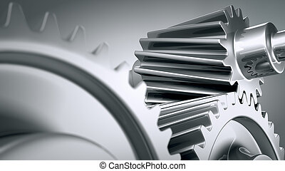 Close up of machine gears - Close up of a group of...