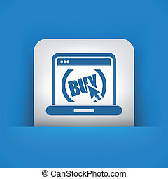 Buy button on website - Illustration of buy button on...