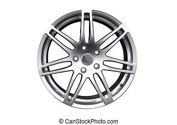 car aluminum wheel rim isolated
