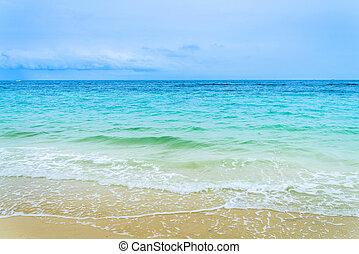 Idyllic Scene Beach Koh Larn,Ta Yai Beach Thailand