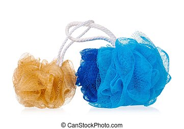 Bast whisps - New colorful bast whisps isolated on white...