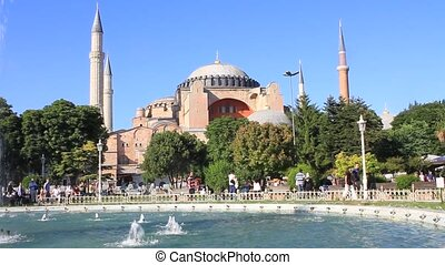 Hagia Sophia in Springtime - Hagia Sophia is the famous...