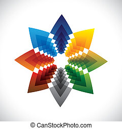 Abstract colorful star creative design symbol- vector...