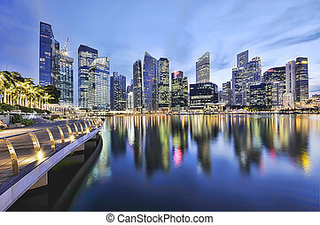 singapore city centre skyline