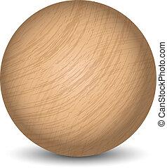 Vector wooden ball
