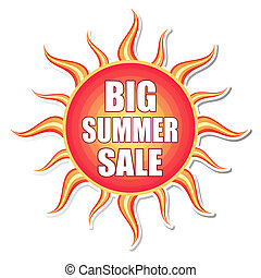 big summer sale in sun label - big summer sale banner - text...