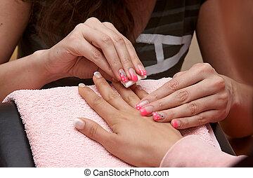 toe nails - maintenance and polish at beautician nail polish...