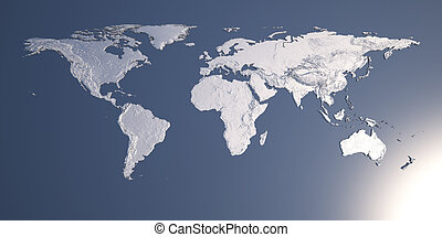 World Map with Relief