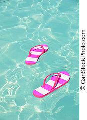 Flip-flops in water