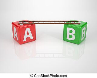 Letters A and B with Ladder - Series Letterdices