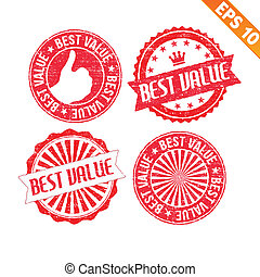 Stamp sticker best value collection - Vector illustration -...
