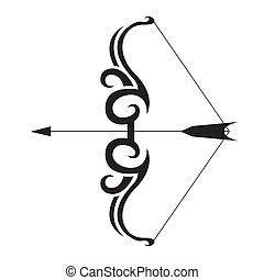 bow tattoo black and white - In the picture is black and...