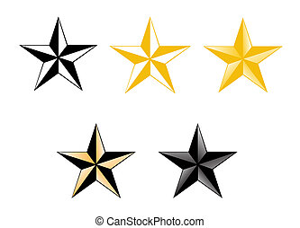 set of five colored stars - The picture shows a set of five...